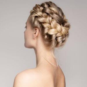 geflochtener Haarkranz Haarverlängerung